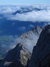 Photo: Clouds Swirl Below the Zugspitze