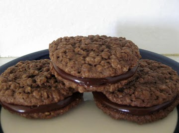 Chocolate Oatmeal Cookie Sandwiches Recipe