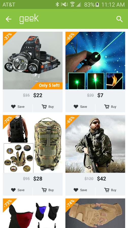 Geek - Smarter Shopping- screenshot