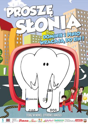 Polski plakat filmu 'Proszę Słonia'