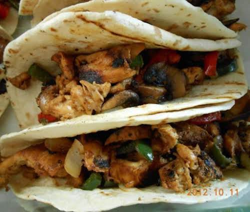 """Soft Chicken Tacos """"Love boneless, skinless chicken thighs, this is just another..."""