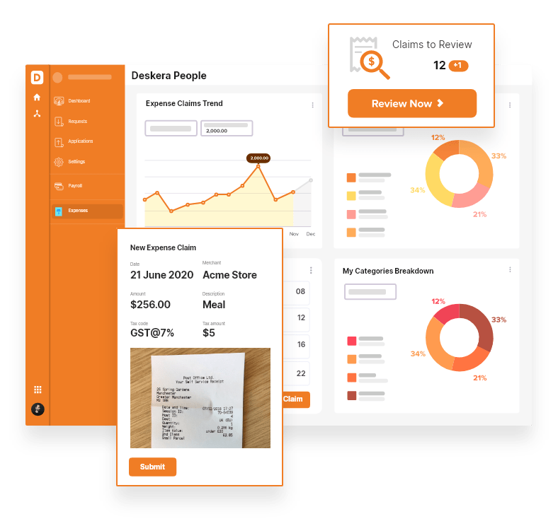 Report Expenses with Deskera