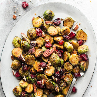 Miso Roasted Brussel Sprouts with Cranberries Recipe