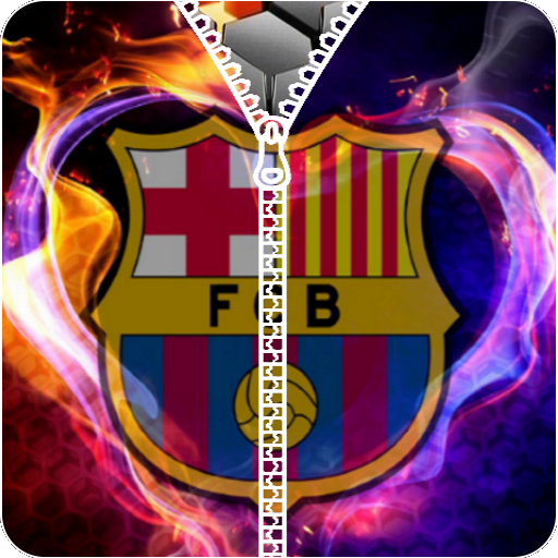 FC Barcelona zipper lock screen