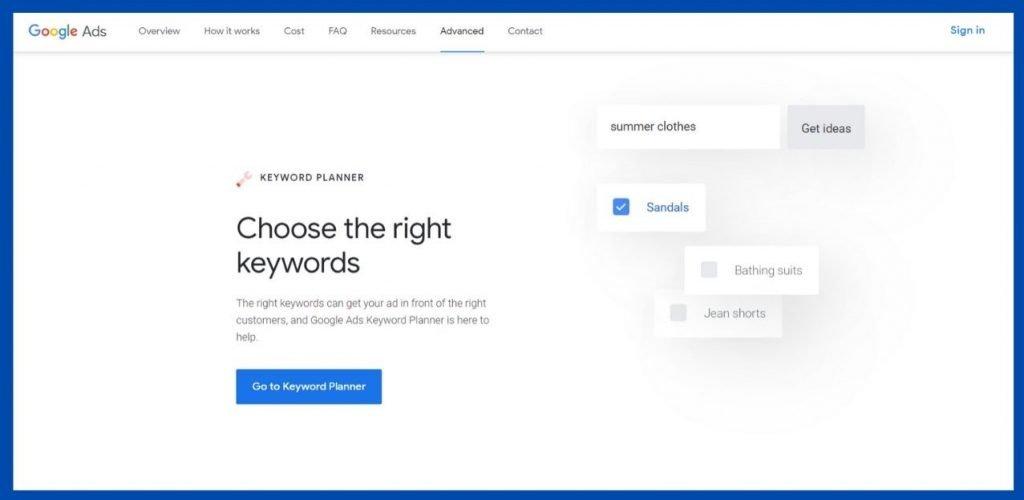 google keyword planner - keyword research