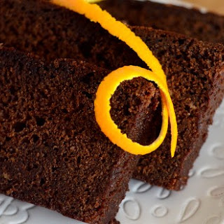 Chocolate Tangerine Pound Cake.