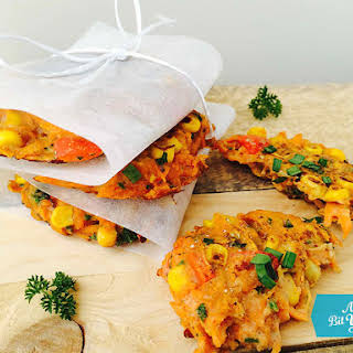 Carrot & Corn Fritters.