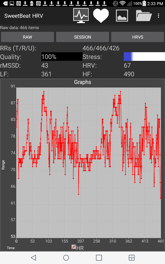 SweetBeat HRV- screenshot