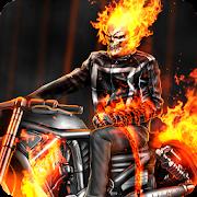 Ghost Adventures Skull Fire Bike Rider Death Moto