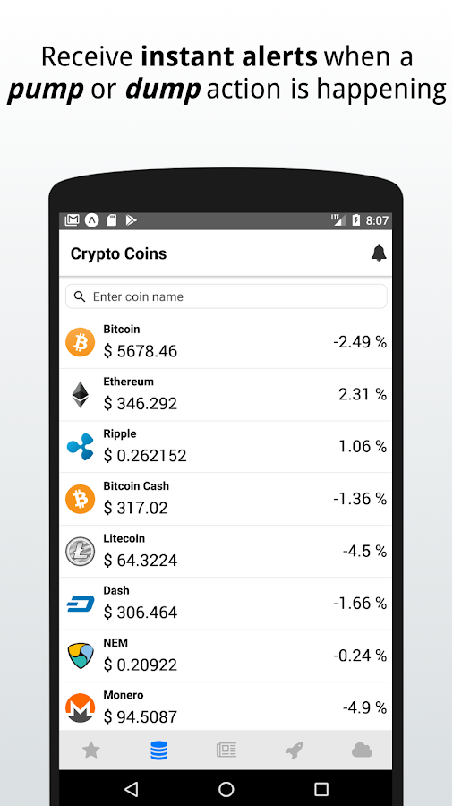 Cryptocurrency tracker - Coin Beat- screenshot