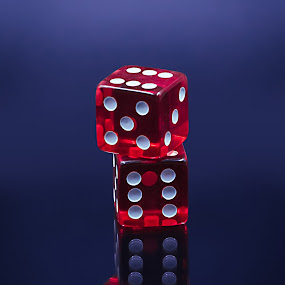 Dice reflection  by Baltă Mihai - Artistic Objects Other Objects ( abstract, studio, poker, reflection, dice, red, game )
