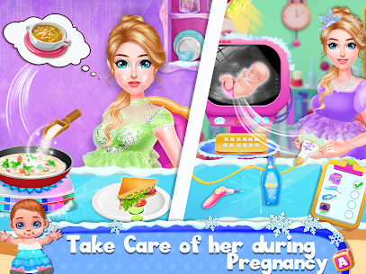 Ice Princess Pregnant Mom and Baby Care Games 2