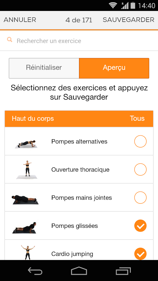 Sworkit Coach Personnel – Capture d'écran