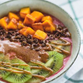 Raw Blackberry Orange Buckwheat Porridge.