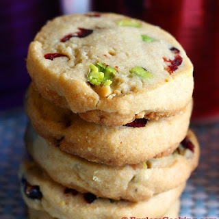 Cranberry Pistachio Shortbread Cookies.