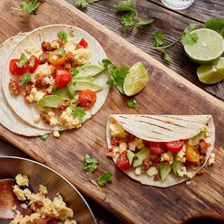 Mexican Chorizo Breakfast Tacos.