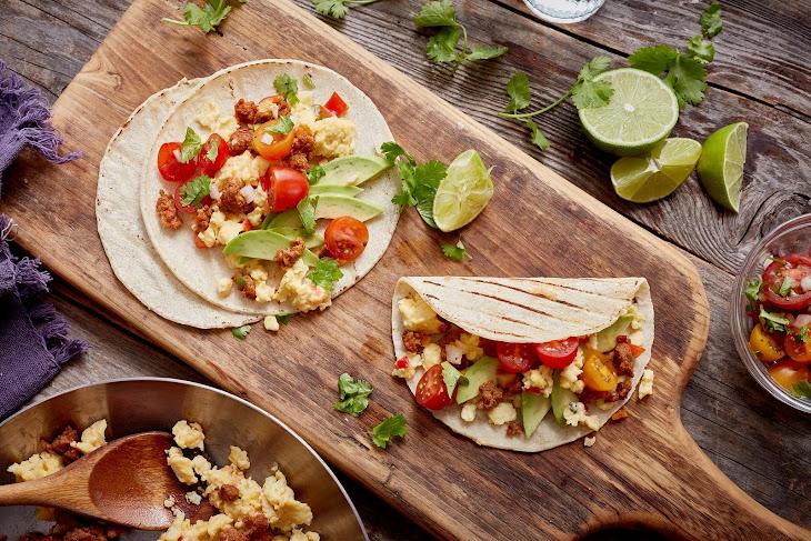 Mexican Chorizo Breakfast Tacos Recipe