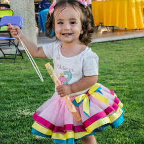 Playing by Pilar Gonzalez - Babies & Children Toddlers ( little girl, joy, lets play, smile, birthday party,  )