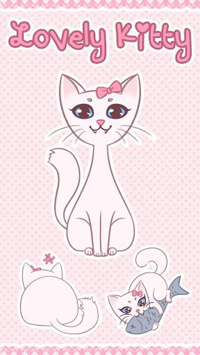 Keyboard Sticker Lovely Kitty