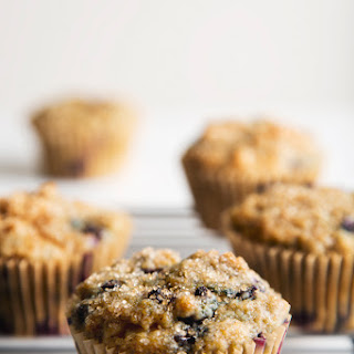 Healthy Blueberry Muffins.