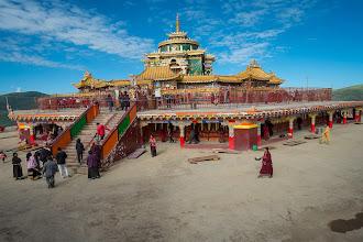 Photo: New stupa at the Northern ridge.