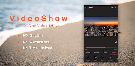 VideoShow Pro -Video Editor,music,cut,no watermark APK poster