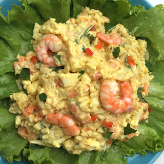 Cold Curried Rice and Shrimp Salad.
