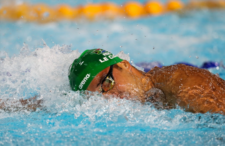 Chad le Clos of South Africa in the mens 200m freestyle final during the evening session of swimming on day 2 of the Gold Coast 2018 Commonwealth Games at Optus Aquatic Centre on April 06, 2018 in Gold Coast, Australia.
