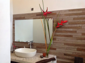 Photo: Decorating the bathroom with flowers from the #biocell.
