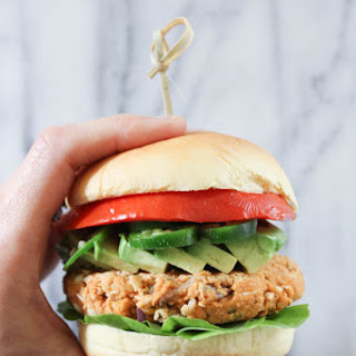 White Bean and Red Lentil Burger. Vegan. GF..