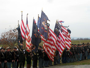 Photo: The parade over, we trotted over to the U.S. Army Regulars monument for a short commemoration ceremony.