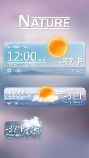 Nature GO Weather Widget Theme