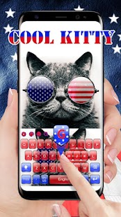 USA cool kitty keyboard - náhled