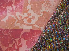 Photo: Ткань : Крепдешин натуральный шелк ш.140см. цена 4000руб Ткань :Шанель ш.140 см. цена 4800руб.