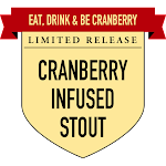 Button Eat, Drink & Be Cranberry