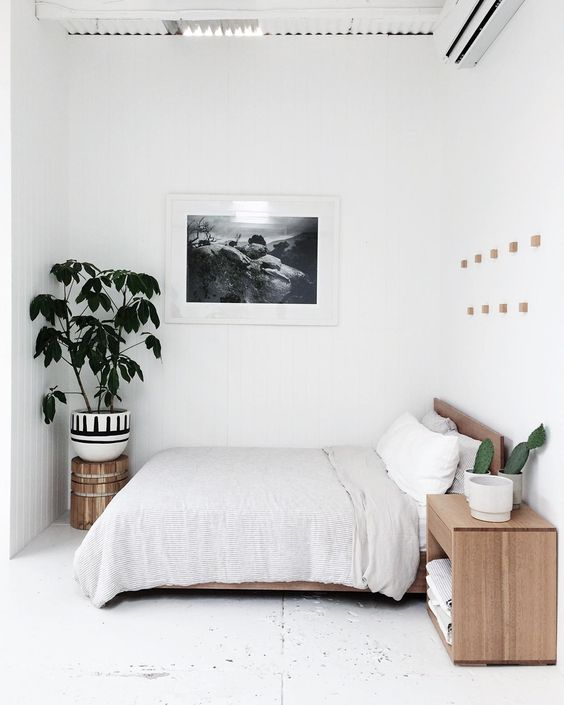 Minimalist Bedroom with A Big Canvas