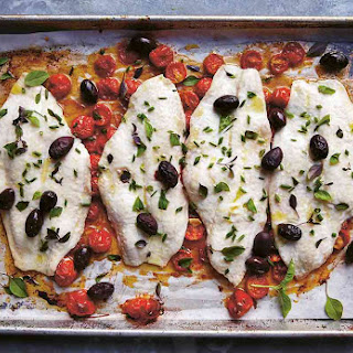 Baked Fish With Tomatoes and Olives Recipe.