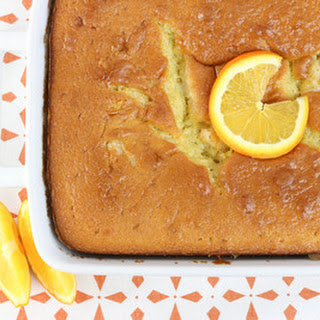 Orange Creamsicle Earthquake Cake.