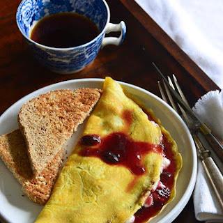 Ricotta-Stuffed Omelet with Cherry Preserves {Gluten-Free} Recipe