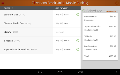 Elevations Credit Union Mobile- screenshot thumbnail