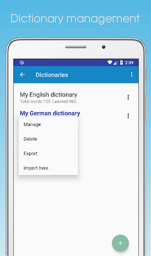 Word Dolphin: personal dictionary, memorizing tool by