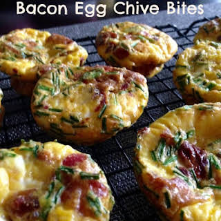 Bacon Egg Breakfast Bites with Chives {Paleo}.