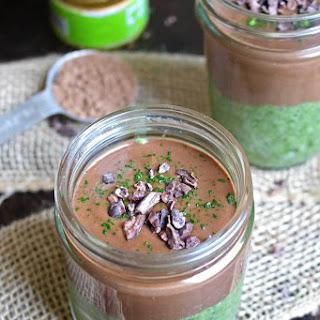 Chocolate Matcha Chia Pudding Recipe