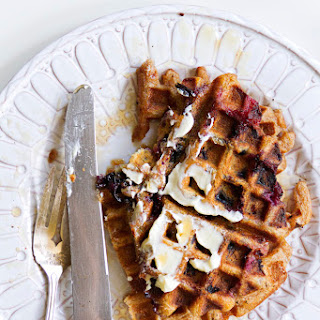 Blueberry Cream Ale Waffles