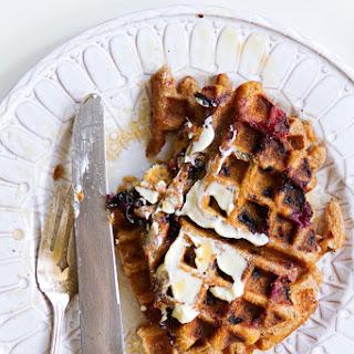 Blueberry Cream Ale Waffles