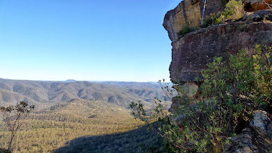 Photo: Wollondily Valley with Bonnum Pic ridge (flat top in middle is Mt Colong)