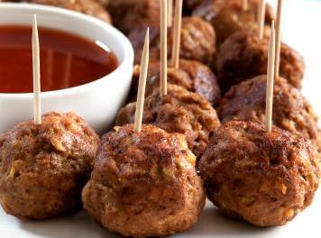 Party Sausage Cheese Balls W / Bbq Dipping Sauce Recipe