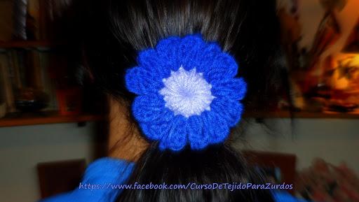 sujetador de cabello tejido al crochet ganchillo para zurdos