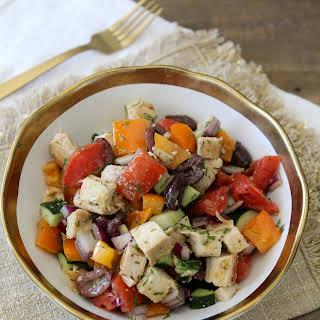 Whole30 Mediterranean Chopped Salad.