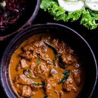 Slow cooked Sri lankan beef curry(like my grandmother makes)..